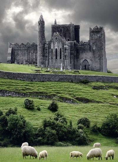 The Rock of Cashel, Ireland- Where St.Patrick converted the people of Ireland to Catholicism...