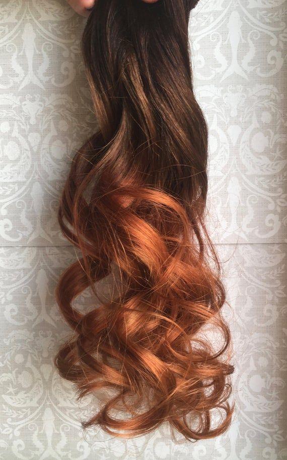 Copper Hair Extensions Clip In Hair Vibrant Hair Auburn Hair