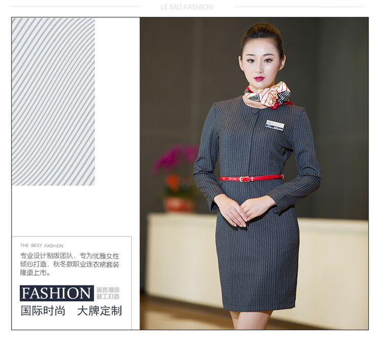 Het hotel manager shopping guide overalls stewardess uniformen voorjaar en de zomer jurk met lange mouwen vrouwelijke receptie van het hotel uniformen -tmall.com Lynx