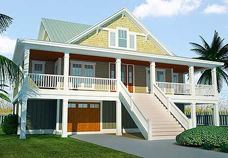 Plan 15065NC 3 Bed Dune House Plan with Elevator 2nd floor