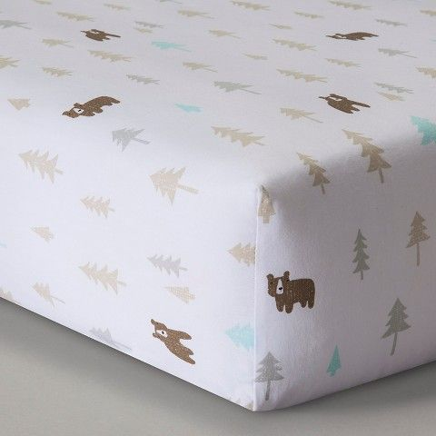 Circo® Woven Fitted Crib Sheet - Little Cub