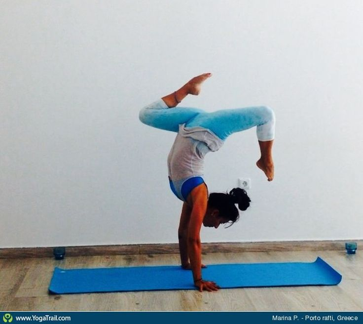 #Yoga Poses Around the World: Handstand taken in Porto rafti, Greece by Marina Papanastasiou