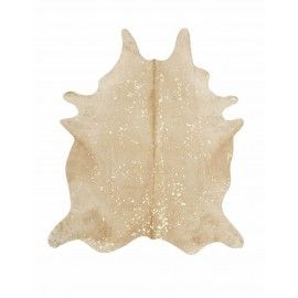 Specialty Cowhides in Devore Metallic: Beige with Gold - Large Size by Saddlemans