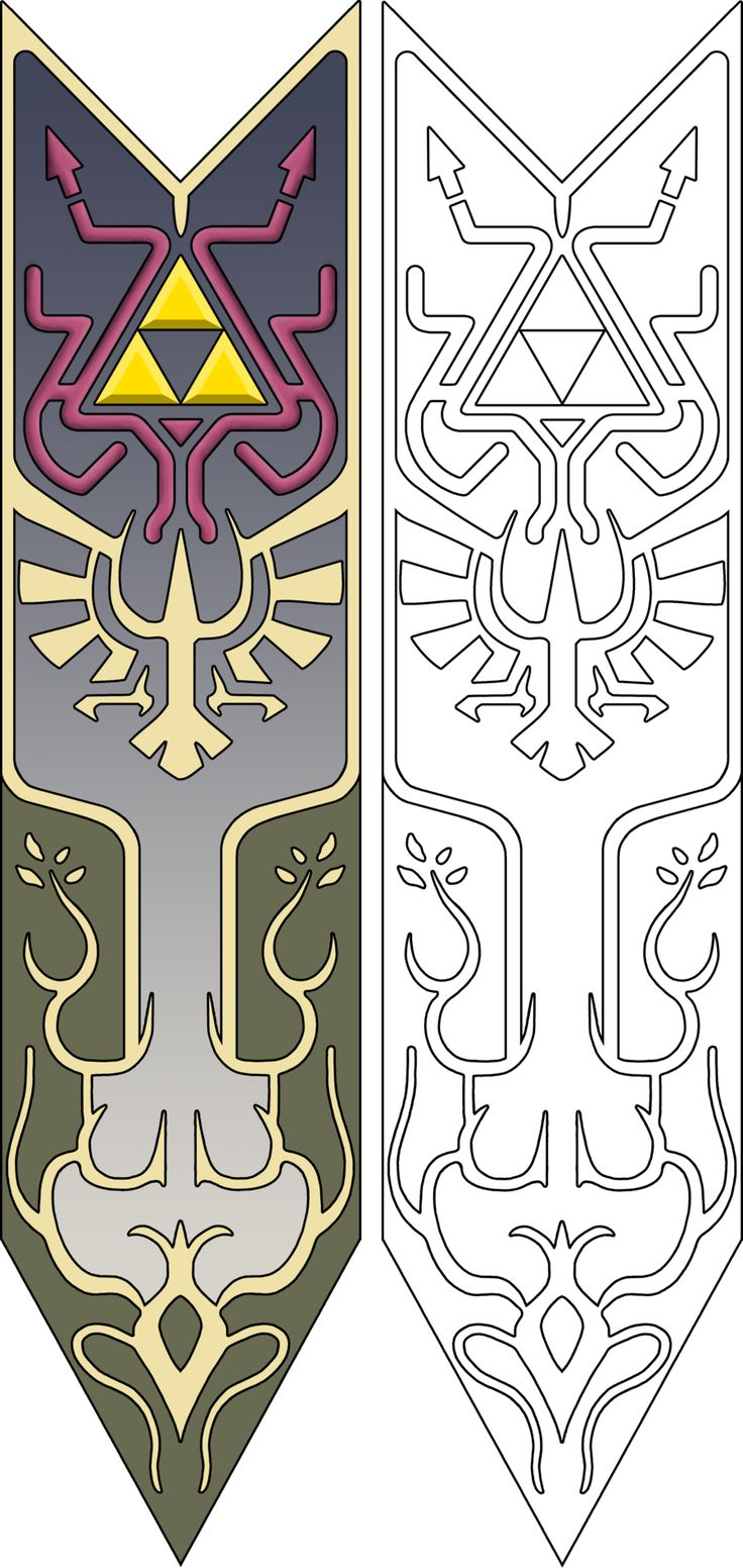 Template/pattern - character: princess Zelda - part: apron/tapestry/blazon thing - game: Twilight Princess - author:...