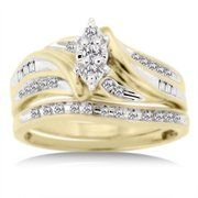 1/3 Carat Diamond T.W. Bridal Set in 10kt Yellow Gold  $299.00Diamonds T W, Rings Yellowgold, Yellowgold Pretty, Yellow Gold, Diamonds Tw, Carat Diamonds, 1 3 Carat, 10Kt Yellow, Bridal Sets