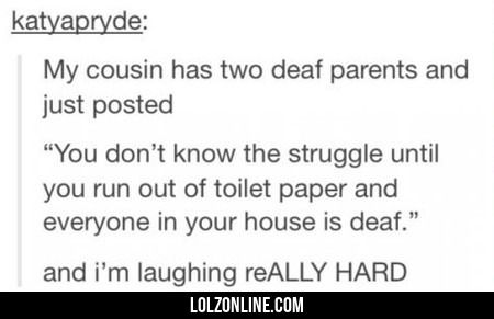 My Cousin Has Two Deaf Parents #lol #haha #funny