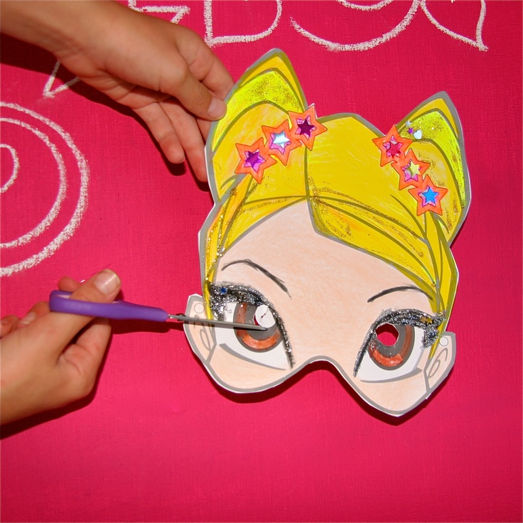 Playwinxclub.com Magic Mask activities- cut out the eyes, but always ask an adult for help ;)