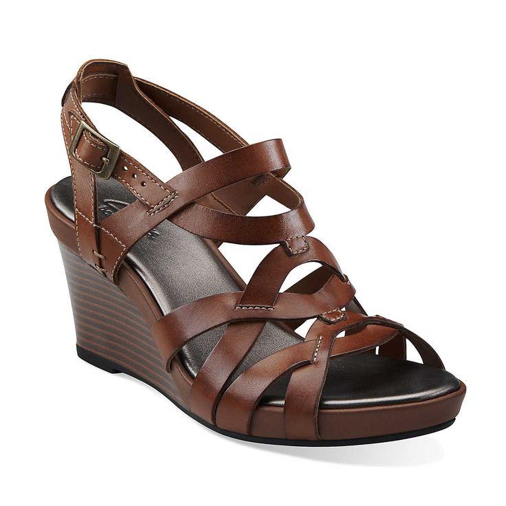 Dark Brown Wedge Heels
