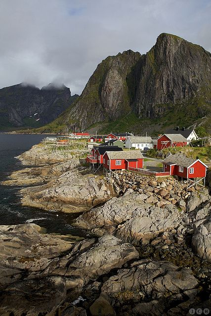 Hamnøy, Lofoten Islands, Norway.   Go to www.YourTravelVideos.com or just click on photo for home videos and much more on sites like this.