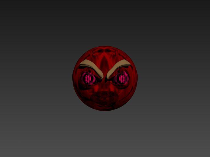 3D Model Angry Emoji - 3D Model