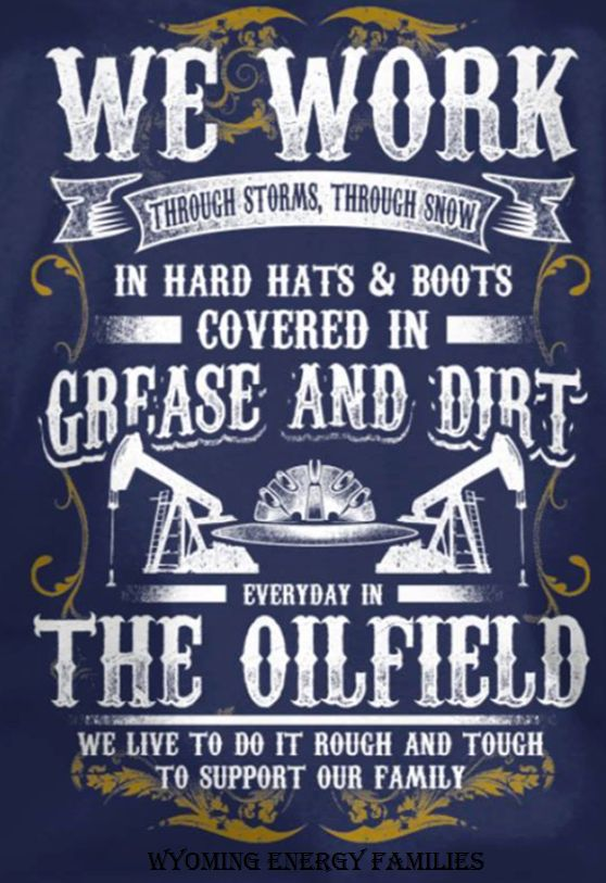 Re-post from Oilfield Families of America. Oilfield pride. #OilfieldLife #OilAndGas #Roughneck