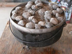 Dutch Oven Cooking-  Camping being outside.  Most anything you can bake at home you can bake while camping! #luckyleafluckyme