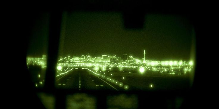 This spooky night vision view makes the Las Vegas skyline look like 'The Matrix' http://popme.ch/60180PSG