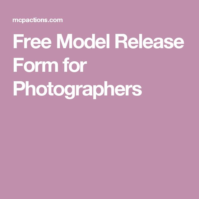 Best 25+ Model release ideas on Pinterest Photography contract - printable release form