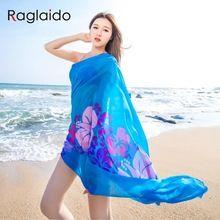 Kadınlar Plaj Eşarp Elbise Seks Bayanlar Baskılı Plaj Eşarp Sarar Şifon 145 cm x 100 cm Büyük Yaz Plaj Eşarp şal Havlu LQH020(China (Mainland))