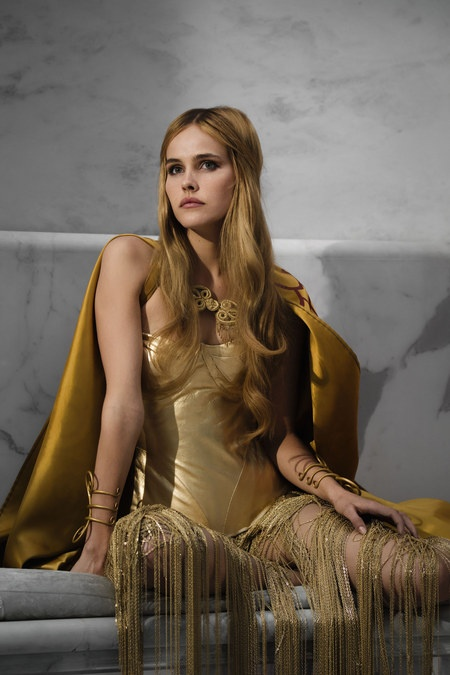 Isabel Lucas as Athena (Athena?? really? not Aphrodite?) from Immortals.