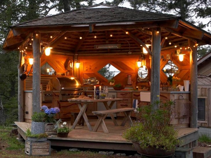 top 25 best rustic outdoor kitchens ideas on pinterest