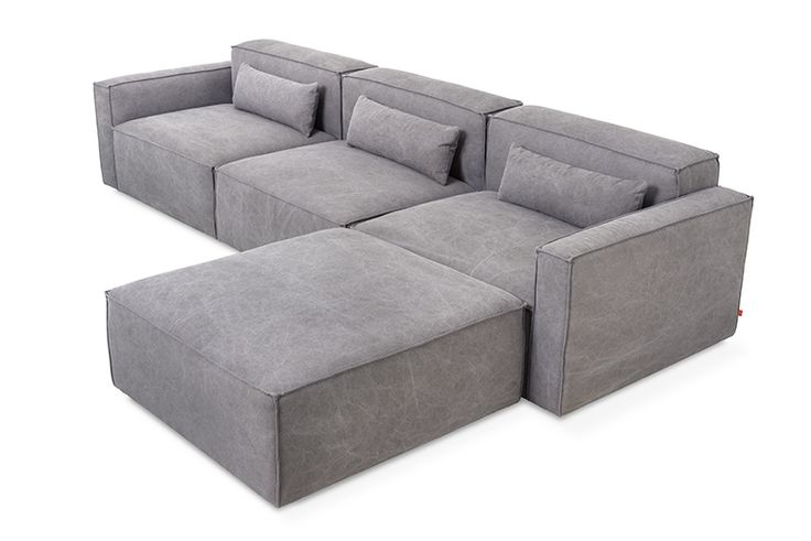 Gus* Modern | The Mix Modular Collection lets you mix and match components and fabrics to build a custom sectional, sofa or chaise to perfectly suit your space. The design uses 5 basic components (available in different fabrics) which can be added and combined to create an unlimited number of upholstery configurations.
