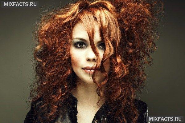 Окрашивание омбре для рыжих волос средней длины