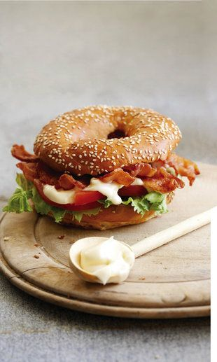 BLT Bagel!  Come to Bagels and Bites Cafe in Brighton, MI for all of your bagel and coffee needs!  Feel free to call (810) 220-2333 or visit our website www.bagelsandbites.com for more information!