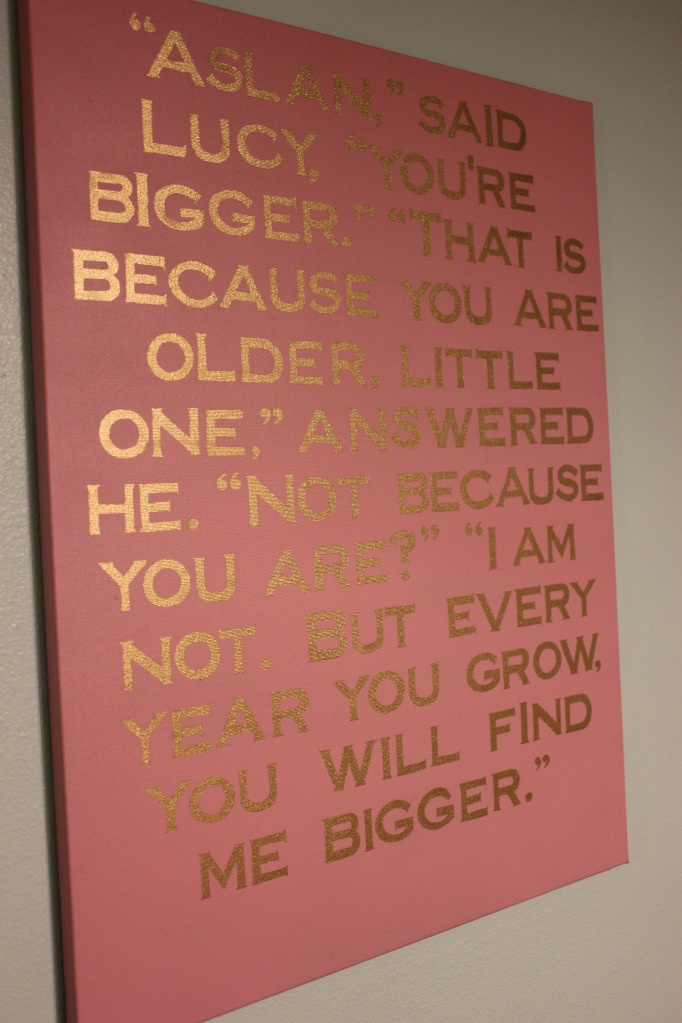 Love The Look Of The Metallic Lettering Printed On Canvas With A Song Lyric Or