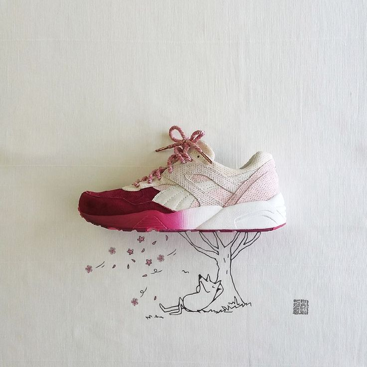"[KITH X PUMA] ""Tokyo Sakura Project"" R698  Falling cherry blossom ""The cherry blossoms are best in the middle of April."""