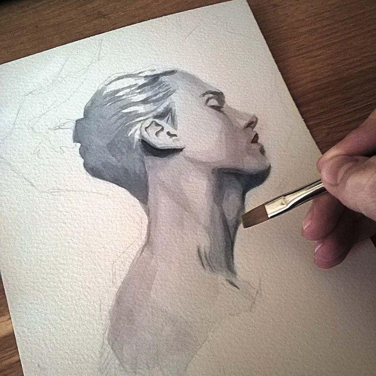 Watercolor sketch in progress    #wip #inprogress #face #portrait #watercolor #painting #sketch #watercolorpainting #watercolorart #aquarelle #art #brushes #paper #miro_z #waterblog #cartel_watercolorists #arts_help #beautifulbizarre #drawingthesoul #artcomplex #artist_4_shoutout #onyxkawai