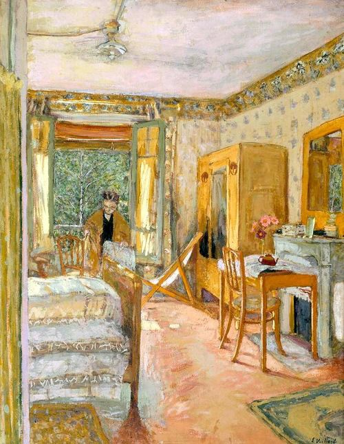 Sunlit Interior, 1920 /Jean-Édouard Vuillard was a French painter and printmaker associated with the Nabis.In his paintings and decorative pieces Vuillard depicted mostly interiors, streets and gardens. Marked by a gentle humor, they are executed in the delicate range of soft, blurred colors characteristic of his art.