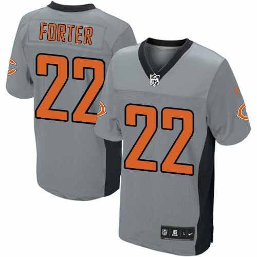 nfl mens elite nike nfl chicago bears 22 matt forte grey shadow jersey 129.99
