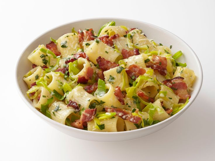 Pasta with Bacon and Leeks recipe from Food Network Kitchen via Food Network