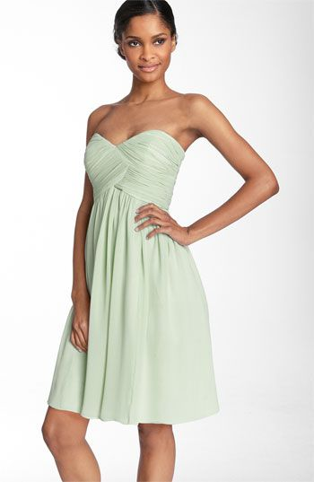 Donna Morgan Strapless Silk Chiffon Dress | Nordstrom