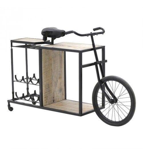 METAL BENCH_BAR 'BICYCLE' 100X40X90