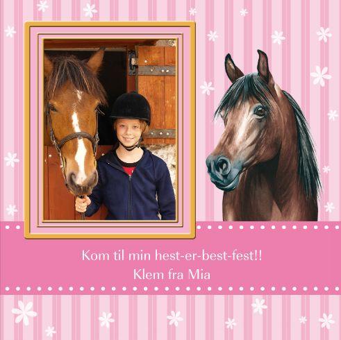 Hest er best! Invitasjon fra www.takkekort.no