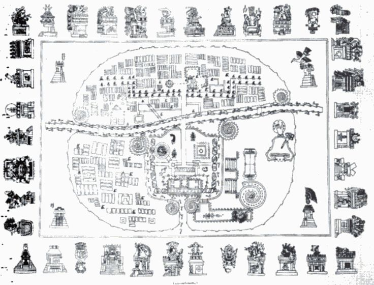 Indigenous map of Tlaxcala, the main enemy of the Aztecs
