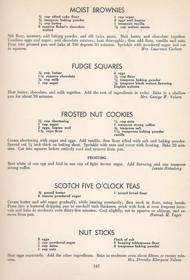 Vintage Cookies Recipes From 1940 More