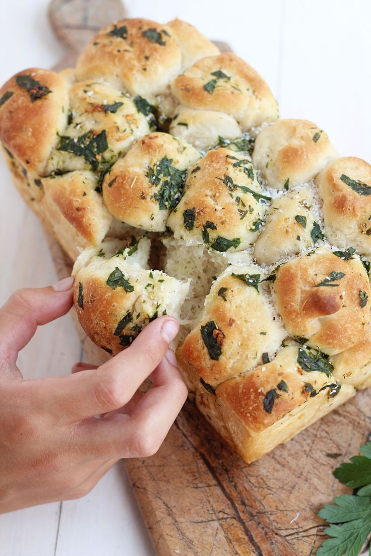 Pull Apart Garlic Bread...you could also use the frozen bread instead of making your own...just sayin'
