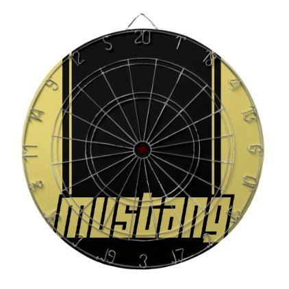 Mustang Fast Racing Stripes Modern Muscle Car Dart Board - stripes gifts cyo unique style