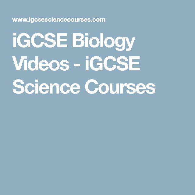 iGCSE Biology Videos - iGCSE Science Courses