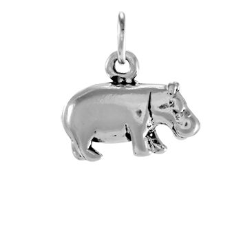 Sterling Silver Hippopotamus Charm