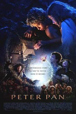 2003 Australian/American/British film, Peter Pan, with Jeremy Sumpter as Peter Pan and Rachel Hurd-Wood as Wendy Darling,
