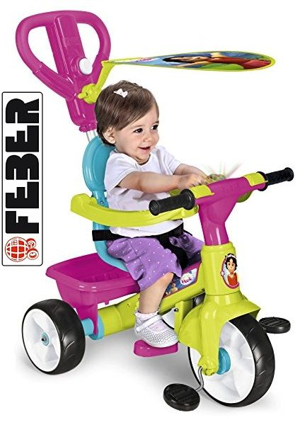 ¡Chollo! Triciclo FEBER Trike Baby Plus Music con diseño Heidi de Famosa por 49.95 euros.