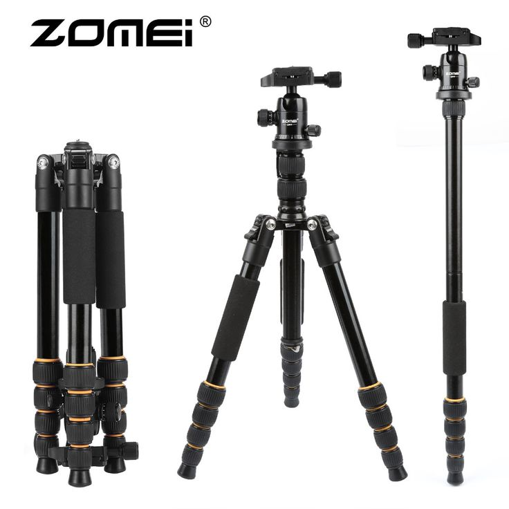 ZOMEI lightweight Portable Q666 Professional Travel Camera Tripod Monopod aluminum Ball Head compact for digital SLR DSLR camera //Price: $93.95      #shopping