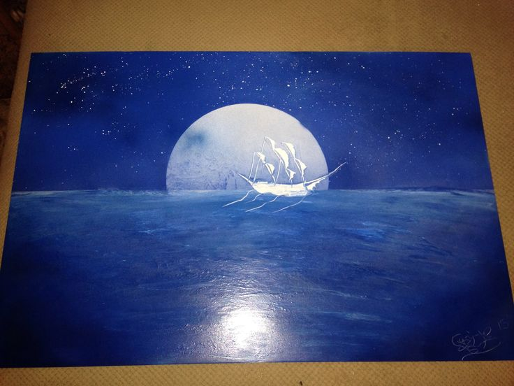 Pirate ship spray paint art