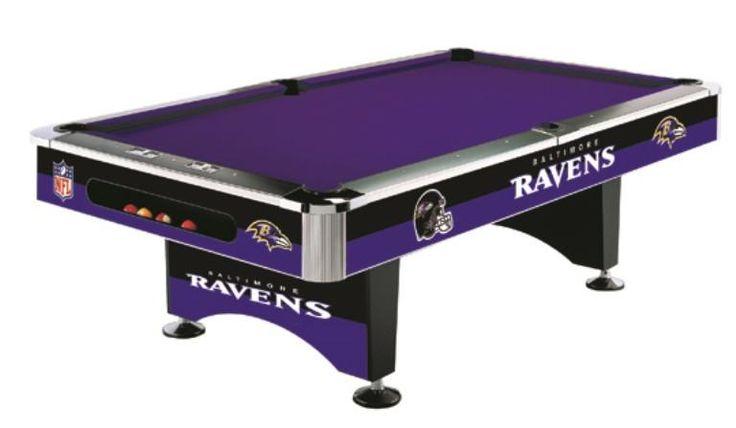 Baltimore Ravens 8' Pool Table