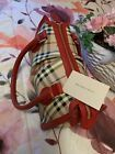 Authentische Burberry Check Haymarket Handtasche #WomenBag