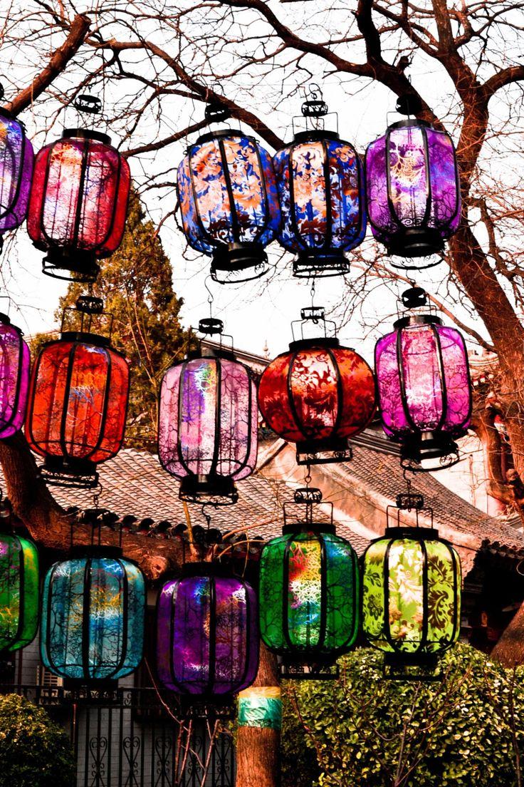 Rideau de lanternes chinoises