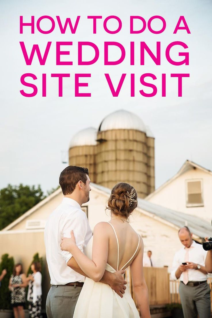 Location, location, location! A list of questions to ask when visiting any potential wedding site.