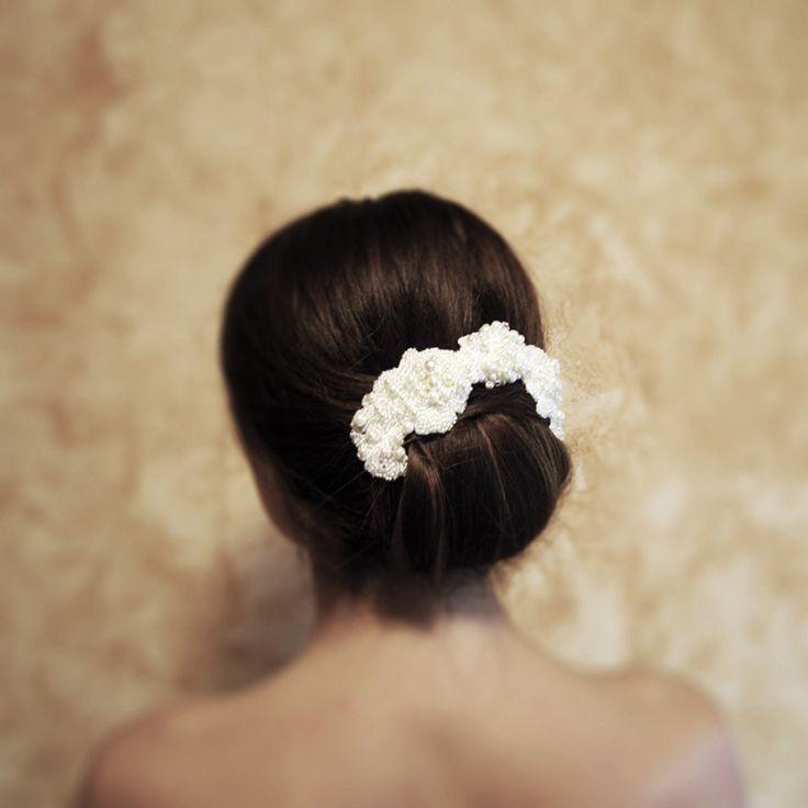 Kristina | Bridal Lace Headpiece wedding hair jewelry bridal hair accessory wedding accessory bridal headpiece wedding hair jewelry by RoyalBrides on Etsy