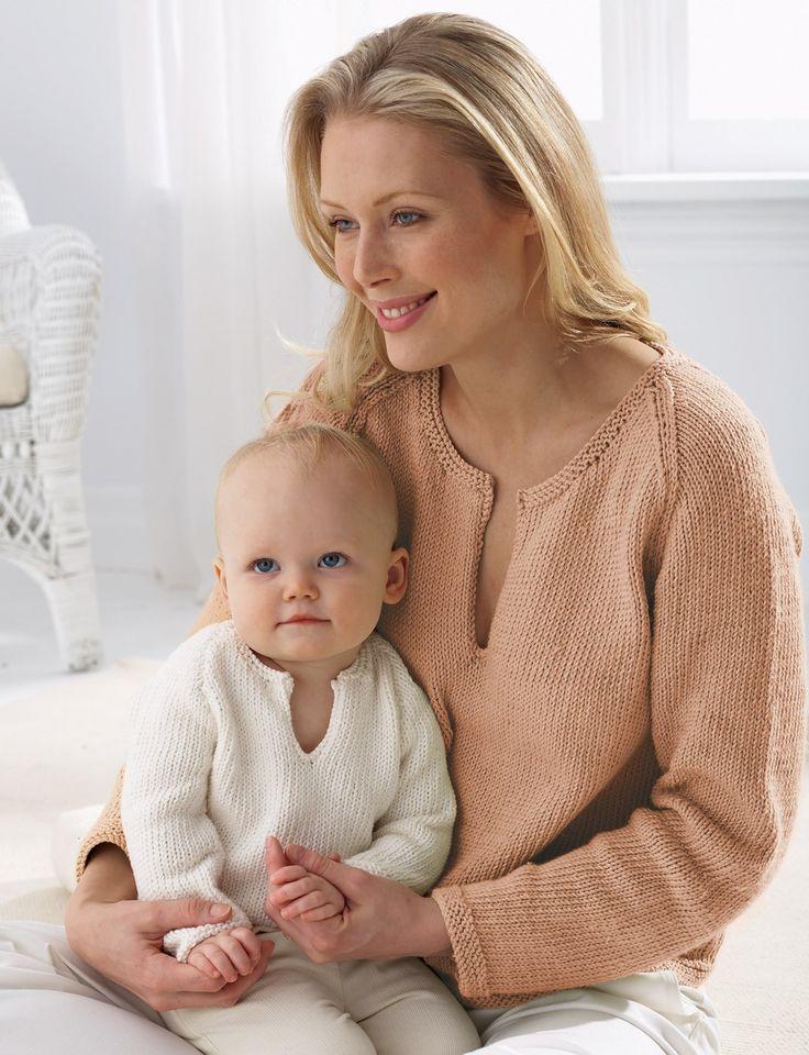 Yarnspirations.com - Bernat Mom's Pullover - Patterns    Yarnspirations
