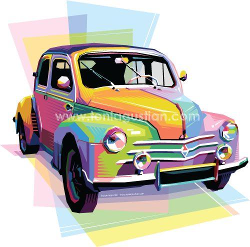 Classic Car Colorful